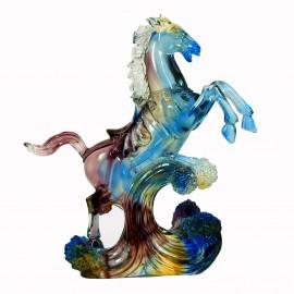 """Хрустальная фигурка """"Лошадь на волне"""", Liuli, pate-de-verre"""