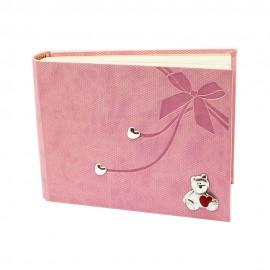 """Фотоальбом 21х16 см """"Мишка"""" розовый, Charisma"""