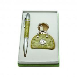 Набор ручка+брелок/фоторамка, зеленый, Charisma, Италия