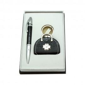 Набор ручка+брелок/фоторамка, черный, Charisma, Италия