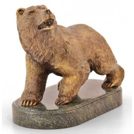 """Фигурка """"Медведь"""" 15х11х10 см в подарочной коробке, Уральская бронза"""