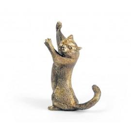 """Фигурка """"Персидская кошка"""" 13х7х8 см, в подарочной коробке, Уральская бронза"""