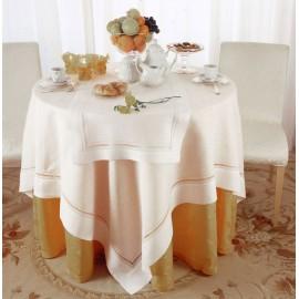Скатерть с двойной мережкой 180x180см, лен, Текстиль Maison Claire
