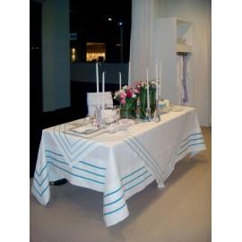Скатерть с бирюзовой отделкой 300x200см, Текстиль Maison Claire