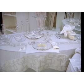 Скатерть Катене серебряная 180x180см, Текстиль Maison Claire