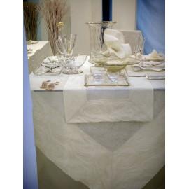 Скатерть Розмари (рисунок снаружи) без органзы 180x180 см, Текстиль Maison Claire
