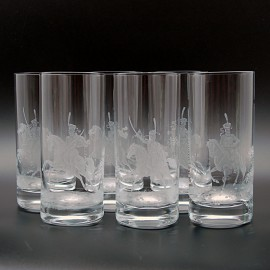 "Набор 2 стакана 500 мл с гравировкой ""Гусары"""