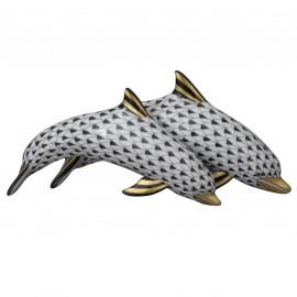 "Фигурка ""Пара дельфинов"", дл. 17 см, Herend"