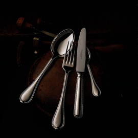 "Набор столовых приборов на 6 персон 24 предмета, декор ""Французиш Перл"", Robbe&Berking, посеребрение"