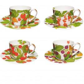 """Чашка чайная с блюдцем """"Монтанья"""", Taitu. Набор 4 шт."""