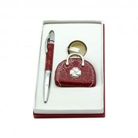 Набор ручка+брелок/фоторамка, красный, Charisma