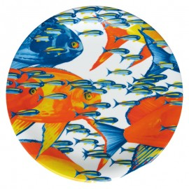 """Блюдо круглое 33 см """"Карибы"""", Taitu by Emilio Bergamin, Италия"""