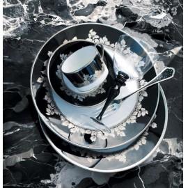 """Сервиз столовый на 6 персон, 35 предметов, декор """"Платиновые листья"""", Haviland"""