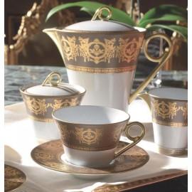 """Сервиз столовый на 6 персон, 35 предметов, декор """"Ритц Империал бронзовый"""", Haviland"""