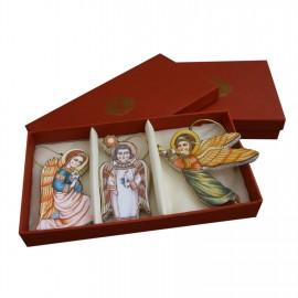 """Новогодний набор елочных игрушек """"3 ангела"""""""