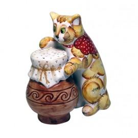 """Фигурка """"Кошка с крынкой"""" 14х11х7 см"""