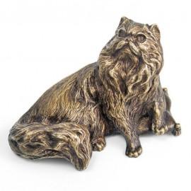 """Фигурка """"Длинношерстная кошка"""" 10х5х12 см, в подарочной коробке, Уральская бронза"""