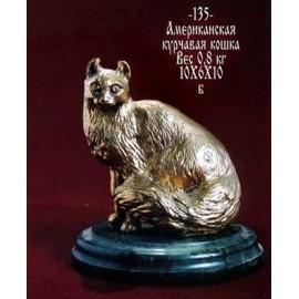 """Фигурка """"Британская кошка"""" 9х6х15 см, в подарочной коробке, Уральская бронза"""