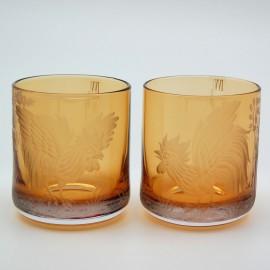 "Набор 2 стакана для виски ""ИВВ Лаунж бар"" с гравировкой ""Петухи"""