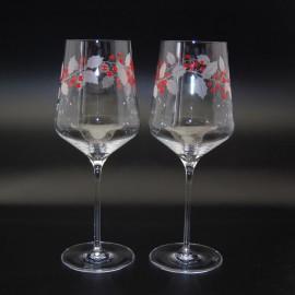 """Набор 2 фужера для шампанского 260 мл """"Скай"""" с гравировкой """"Рождество"""""""