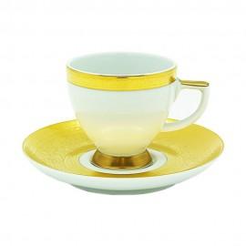 """Чашка мокко 90 мл с блюдцем, декор """"Констанца - 9138 Идеал Голд"""", Falkenporzellan"""
