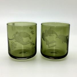 "Набор 2 стакана для виски 400 мл с гравировкой ""Дайвинг"""
