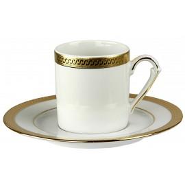 """Набор 6 чашек мокко с блюдцами, декор """"9160 Голд"""", Falkenporzellan"""