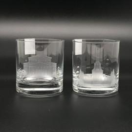 """Набор 2 стакана для виски 400 мл с гравировкой """"Москва"""""""