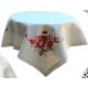 """Новогодняя скатерть 85х85 см, декор """"Свеча"""", Rolande du Dreuilh"""