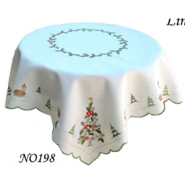 """Новогодняя скатерть 85х85 см, декор """"Елочка"""", Rolande du Dreuilh"""