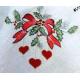 """Новогодняя дорожка 150х50 см, декор """"Сердца"""", Rolande du Dreuilh"""