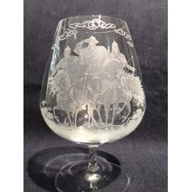 """Набор 2 бокала для коньяка 710 мл с гравировкой """"Богатыри"""""""