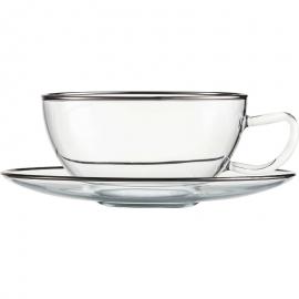 """Чашка чайная с блюдцем """"10 Карат"""", Eisch Glaskultur"""