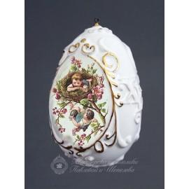 """Яйцо рельефное большое """"Пасхальное"""" 8,5х5,5 см"""