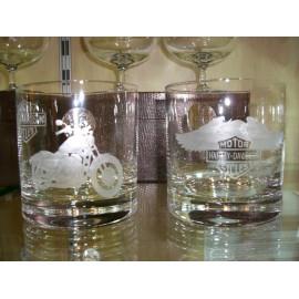 """Набор 2 стакана для виски 400 мл с гравировкой """"Харлей Девидсон"""""""