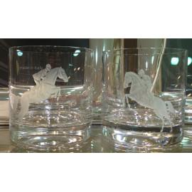 "Набор 2 стакана для виски 400 мл с гравировкой ""Конкур"""