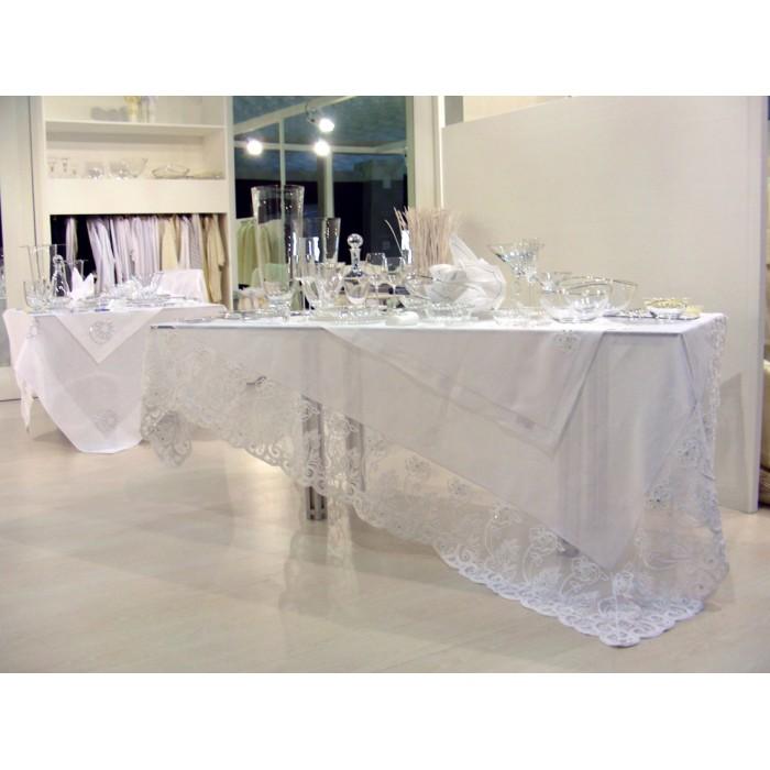 Скатерть Фиори с кристаллами Сваровски 280x180см, Текстиль Maison Claire