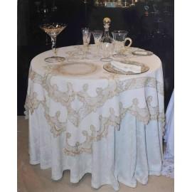 Скатерть Империале серебро/золото 180x180 см, Текстиль Maison Claire