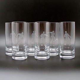 """Набор 6 стаканов высоких 500 мл с гравировкой """"Футбол"""""""