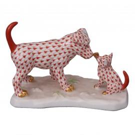 """Фигурка """"Пес и кот"""", выс. 9,5 см, Herend"""