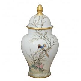 Комплект ваза с крышкой 37 см и тарелка настенная 25 см, лимитированный выпуск, Herend
