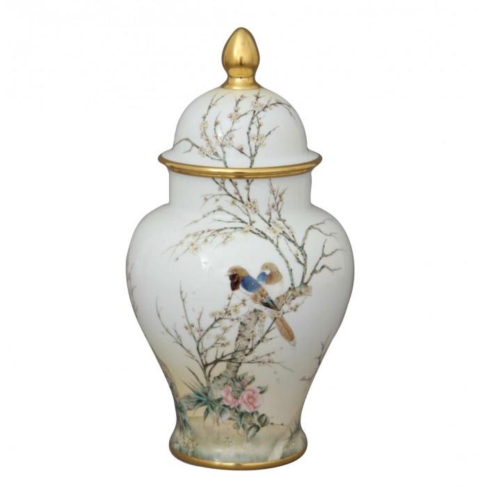 Набор ваза с крышкой 37 см и блюдо 25 см, лимитированный выпуск, Herend